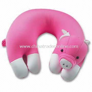 U-neck Cushion with 87% Nylon and 13% Spandex Cover, Various Sizes are Available