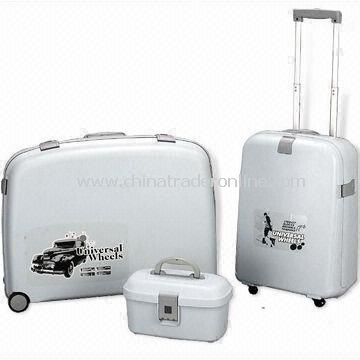 3-piece Luggage Set, Available in Various Colors, Made of PP, Measures 27, 22 and 14-inch