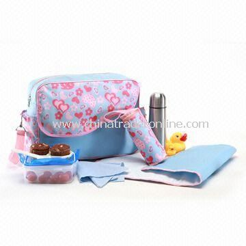 Carry Diaper Bag, Made of Polyester, Measuring 40 x 29 x 14cm