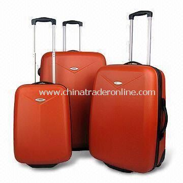 Elegant ABS Trolley Luggage Case with 2 Rolling Wheels, Various Colors are Available