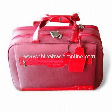 Flight/Duffel Bag, Made of Full Grain Leather, Available in Red