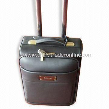 Flight/Trolley Bag, Made of Action Leather, OEM Orders are Accepted