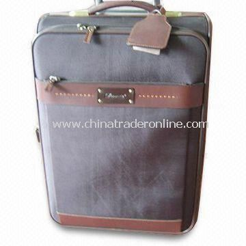 Flight/Trolley Bag, Made of Full Grain Leather, Available with Nylon Lining