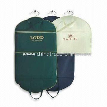 Garment Bags/Suit Covers, Made of Nonwoven PP, Customized Designs are Accepted