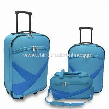 Luggage Set, Includes Trolley Cases and Duffle Bag, One Top Elastic Handle