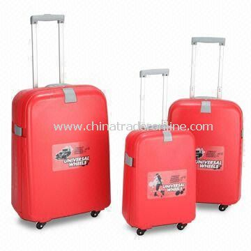 PP Luggage Sets, Measures 26, 22 and 18-inch, Available in Various Colors