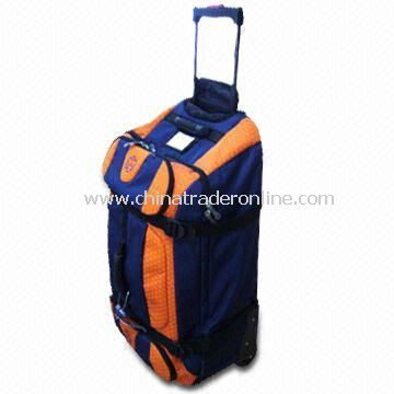 Promotional Traveling/Duffel/Luggage/Backpack Bag, Made of 600D Polyester and 210D Lining