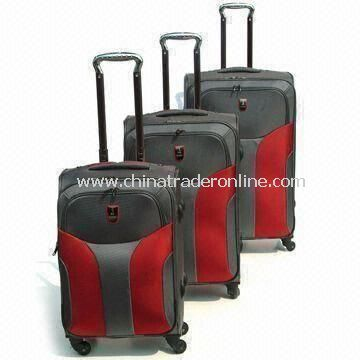 Wheeled Rolling Trolley Luggage Set with Plastic Buckle for Security, Available in Various Colors