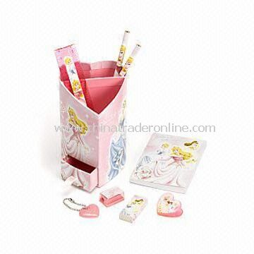 20 x 9.5cm Princess Heart Desk Tidy, Heart Shaped Organizer