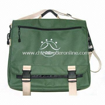 AZO-free Polyester Messenger Bag with PP Webbing Shoulder Strap, Measuring 38 x 32 x 10/15cm from China