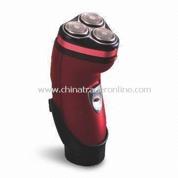 Battery Operated Mens Shaver with 3-head Razor Mustache/Sideburn Trimmer
