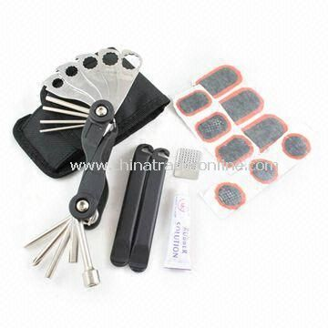 Bicycle Repairing Tools with One Tube Repair Kit Glue, Made of Stainless Steel Material