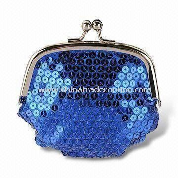 Blue Coin Purse with Softback Style, Strong and Durable