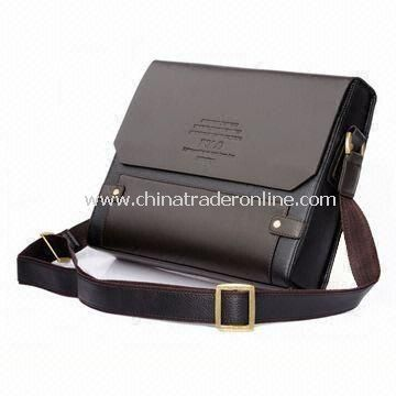 Briefcase in Various Sizes and Styles, Made of Leather, Available with Shoulder Strap
