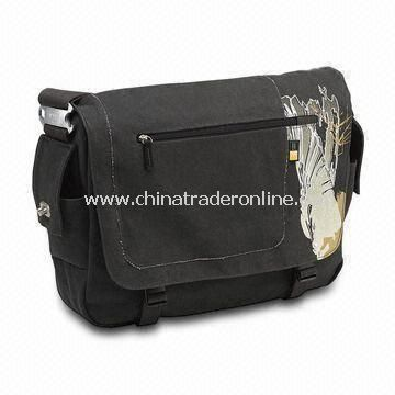 Canvas and Polyester Messenger Bag, Available in Various Colors and Styles