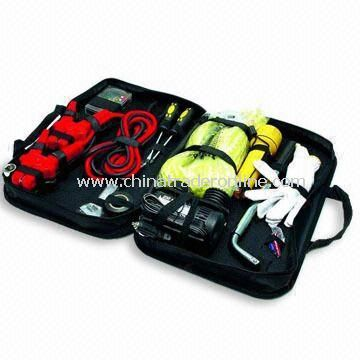 Car Emergency Kit/Road Safety/Auto/Roadside Tool Set with Easy Starter and Air Compressor