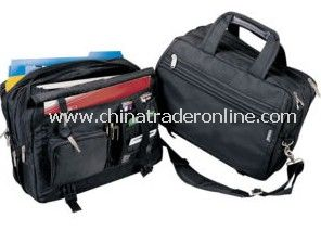 Expandable heavy duty laptop computer briefcase Bag