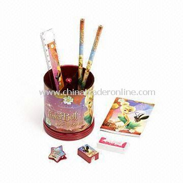 Fairies Desk Tidy with Two Handy Compartments, Includes Pencils