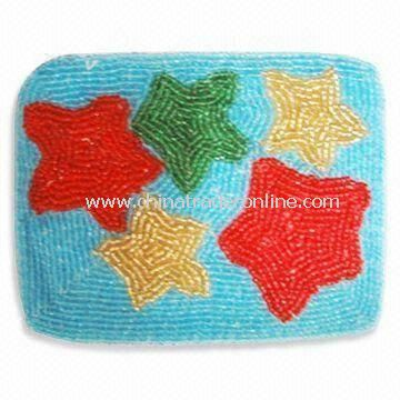 Fashionable Coin Purse, Available in Various Colors, Made of Beads