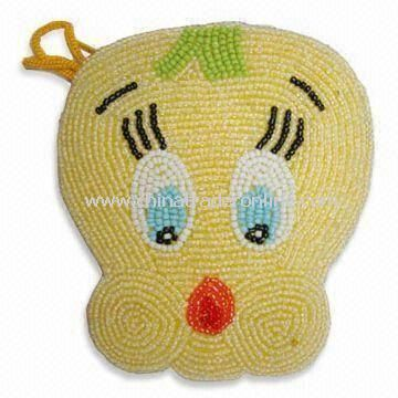 Fashionable Coin Purse, Made of Beads, Available in Various Colors