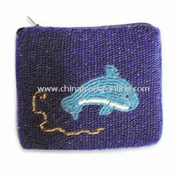 Fashionable Coin Purse, Made of Sequin Beads, Available in Various Colors from China