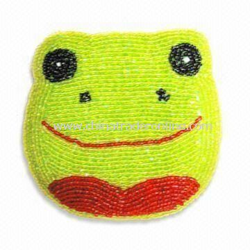 Fashionable Coin Purse in Frog Shape, Made of Green Beads, Available in Various Colors