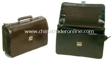 Flapover Executive Leather Briefcase
