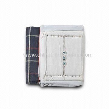 Jewelry Roll Bag, Made of Knitting Fabric, Available in Various Designs