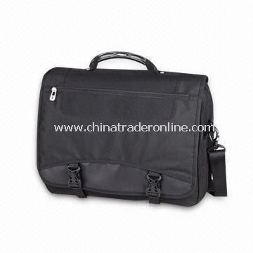 Laptop Briefcase, Made of High Quality Nylon, with Elastic Padded Shoulder Strap