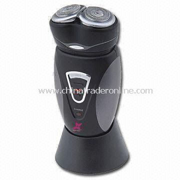 Mens Electric Shaver with Two Floating Heads and Charging Adapter
