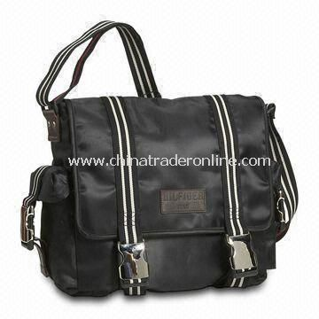 Messenger Bag, Made of Canvas and Polyester, Comes in Various Styles and Colors