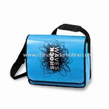 Messenger Bag with Glossy Lamination, Made of PP Woven Cloth, OEM Orders are Welcome