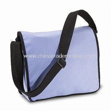 Messenger Bag with Water-resistant Coating and Adjustable Shoulder Strap
