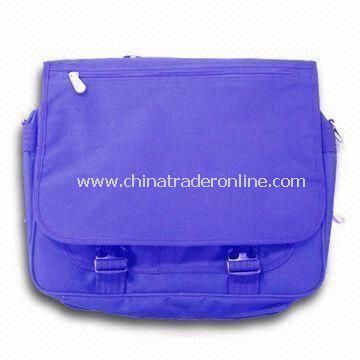 Messenger Bag with Webbing Handle, Made of 600D/PU and Ripstop