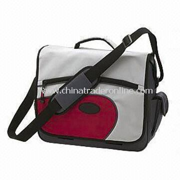 Nylon Messenger Bag, Made of 600D Polyester, Available with Pen and Mobile Holders from China