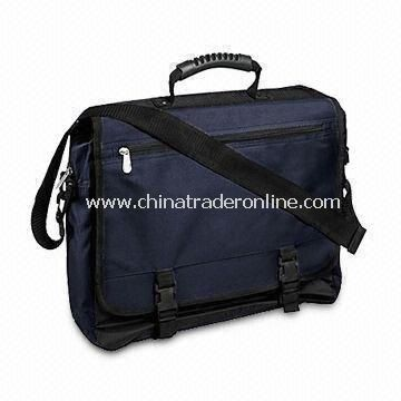 Polyester Briefcase with Adjustable Shoulder Strap and Metal Puller