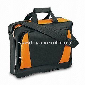 Polyester Briefcase with Front Pocket and Adjustable Shoulder Strap