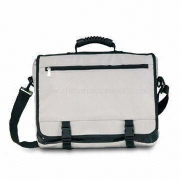 Polyester Briefcase with Metal Puller and Adjustable Shoulder Strap