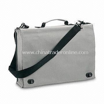 Polyester Briefcase with Plastic Locker and Adjustable Shoulder Strap