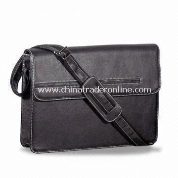 PU Briefcase with Adjustable Shoulder Strap, OEM Designs are Welcome
