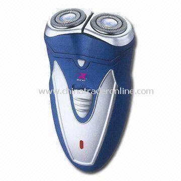 Rechargeable Mens Shaver with Double Floating Shaving Heads and Cutting System