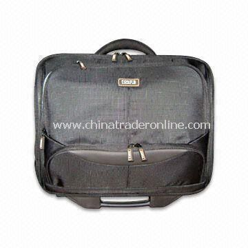Well-designed Trolley Briefcase with Zippered Front Pocket, OEM Designs are Welcome
