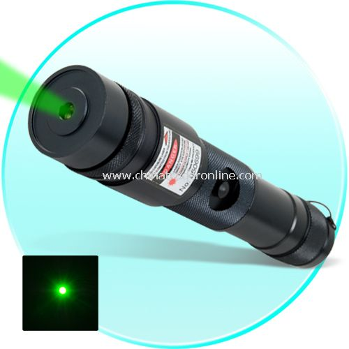 High Power 100mW Green Laser Pointer - All Metal Combat Edition