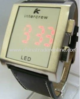 LED Watch with 8 word LED light