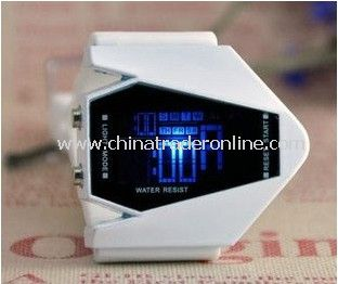 unisex LED digital watch,electronic fashion watch,silicone watch,air plane led watch