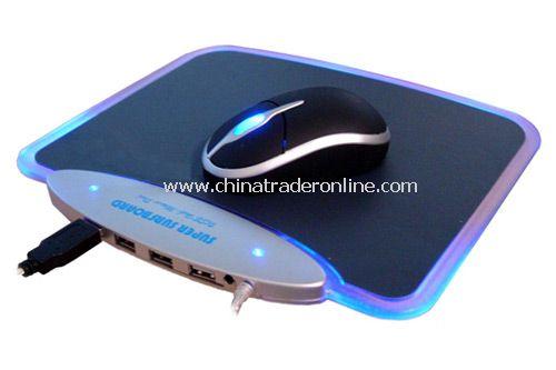 USB 4 Ports Hub & Mouse Pad