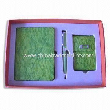 3 Pieces Stationery Gift Set, Includes Notebook, Keychain and Ballpen