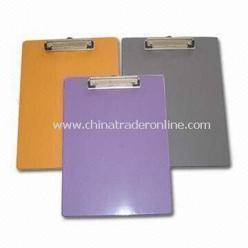 A4 Size Clip Board/Files, Made of PVC Material, Customized Logos are Welcome