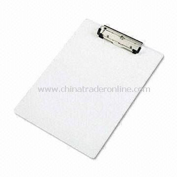 Clip Board, Made of PP, Suitable to Protect Documents and Menu, Measures 310 x 240mm