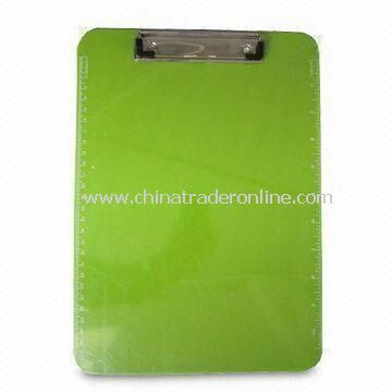 Clip Board in Green Color, Measure 215 x 150mm, Customized Logo is Welcome